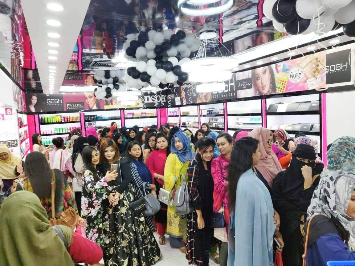 Chittagong Outlet of BD Budget Beauty (BBB) in Bangladesh  full of customers