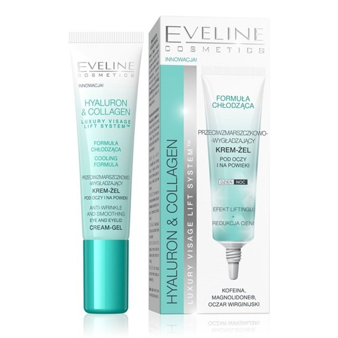 EVELINE Hyaluron & Collagen Anti-Wrinkle and Smoothing Eye And Eyelid Cream-Gel 15ml