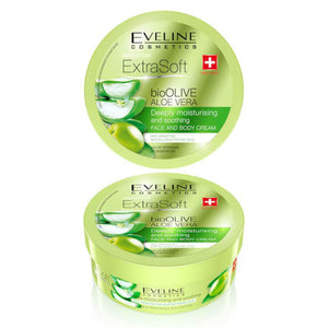 EVELINE SOFT bioOLIVE Aoe Vera Face & Body Cream 175ml