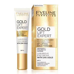 EVELINE Gold Lift Expert Eye Cream SPF8 15ML