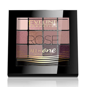 EVELINE All in One 12 Colors Eyeshadow 12g ROSE