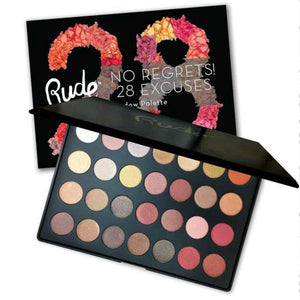 RUDE - No Regrets! 28 Excuses Eyeshadow Palette - Leo Shimmer