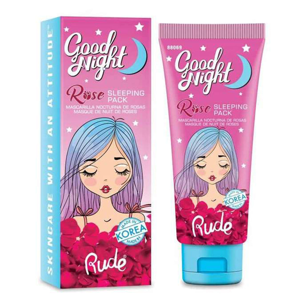 RUDE - Good Night Rose Sleeping Pack