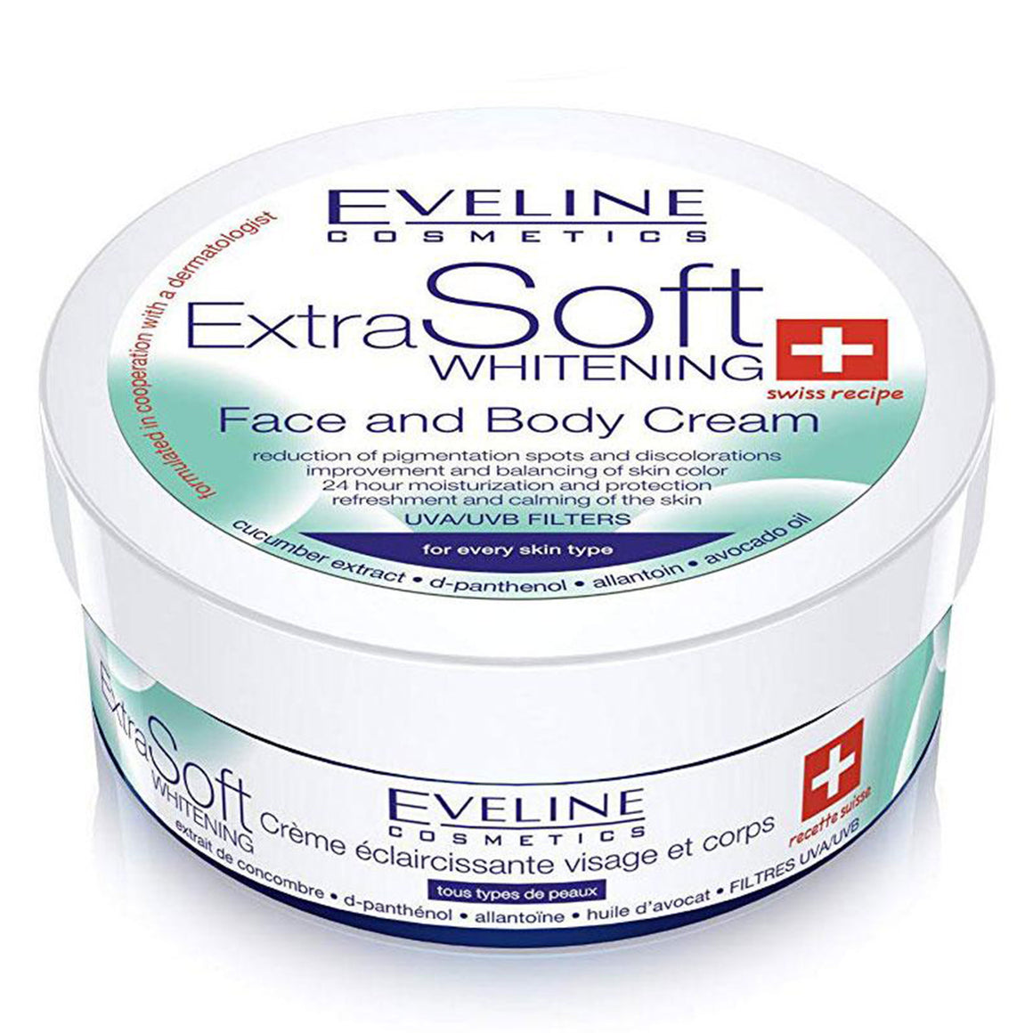 EVELINE Soft Whitening Face And Body Care Cream - 200ml