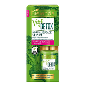 Bielenda Vege Detox Normalizing Face Serum Mixed Skin Beetroot + Kale + Prebiotic 15 ml