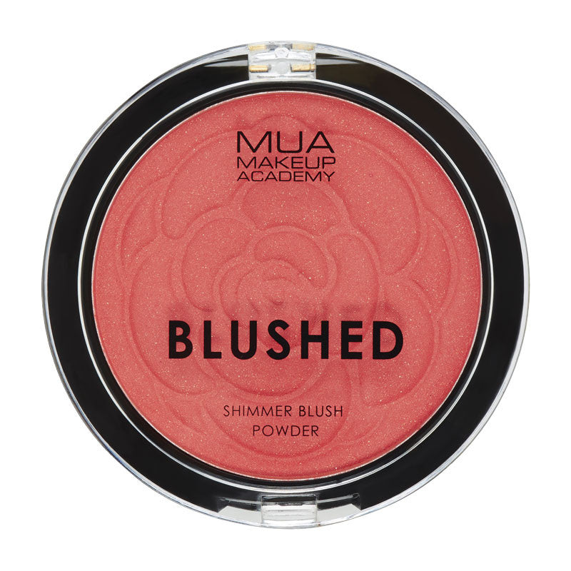 MUA Blushed Shimmer Blush Powder - Peach Fizz at BD Budget Beauty (BBB)