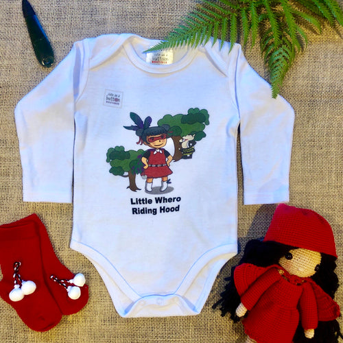 Little Whero Riding Hood Romper (Red)