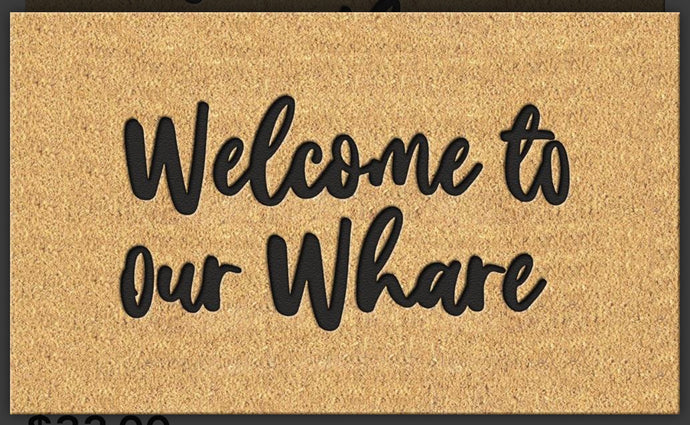 Door Mat Welcome to our Whare Moana Rd