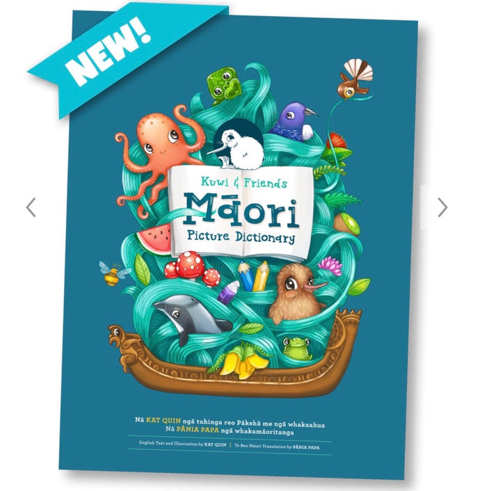 Māori Dictionary Kuwi & Friends Māori Picture Dictionary (Large/ Hard Cover)