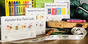 Learning Bundle Crayons Alphabet & Number Cards & Pencil Case