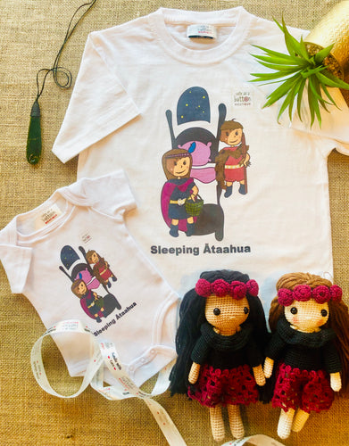 Sleeping Ātaahua (Sleeping Beauty) Romper & T - Shirt