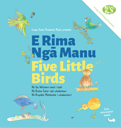 Book E Rima Ngā Manu (Five Little Birds) Bilingual Children's Book