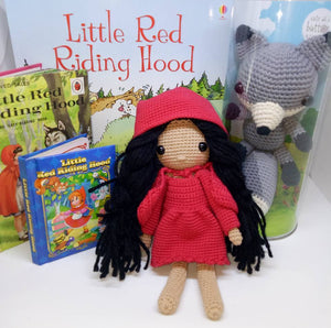 Little Red Riding Hood Doll, Mr Wolf & Book Combo