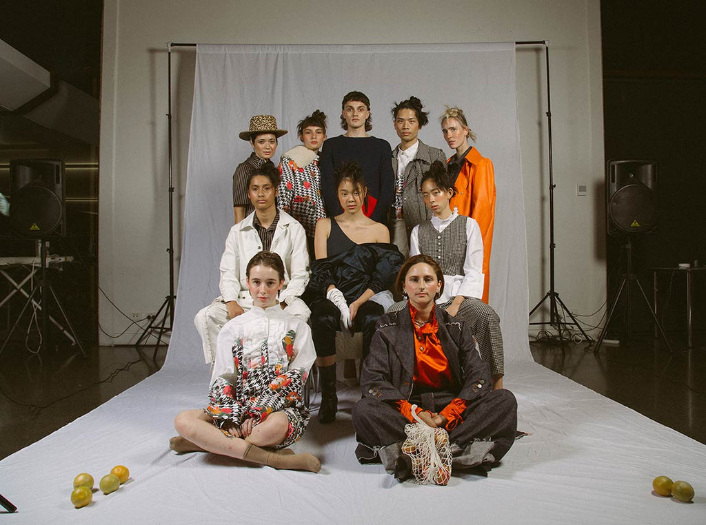 Group of people wearing clothing from fashion label Corepret