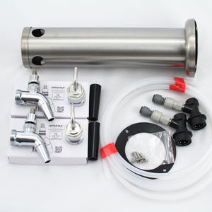 Stainless steel Beer Tower double Intertap tap kit