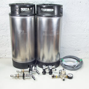 Premium Double Keg Kit - choice of Keg, Tap and Regulator