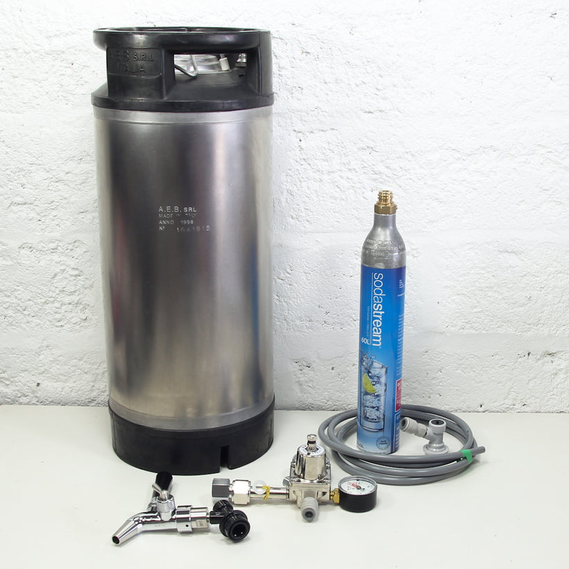 Corny Keg Sodastream Kit with Intertap Flow Control Faucet