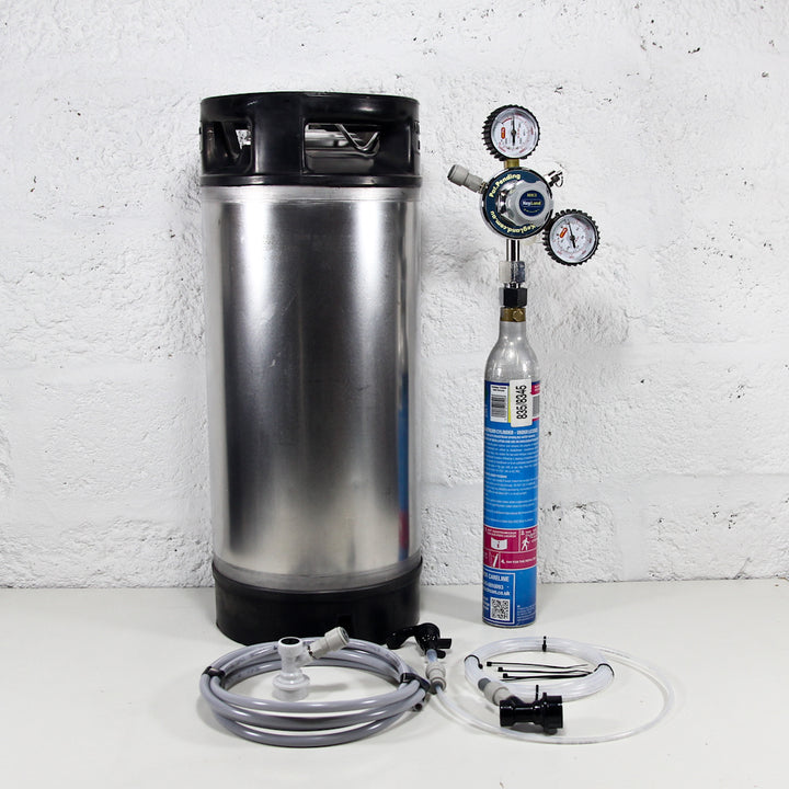 Reconditioned Corny Keg Sodastream Kit with Deluxe Party Tap