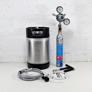 New 9L Corny Keg Sodastream Kit with Pluto Gun