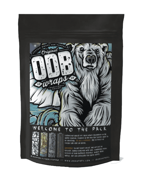 Interstellar Vaping Battery Wraps Polar Opposite ODB Wraps Original ODB Wraps