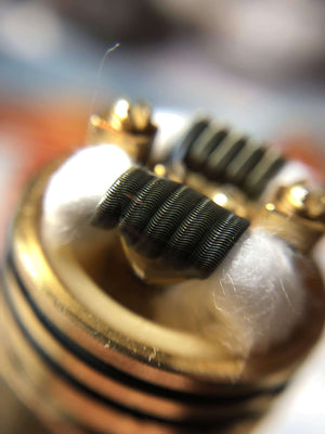 Interstellar Vaping Handmade Coil Framed Staple Alien - Fralien Coil