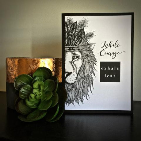 Inhale Courage, Exhale Fear Greeting Card