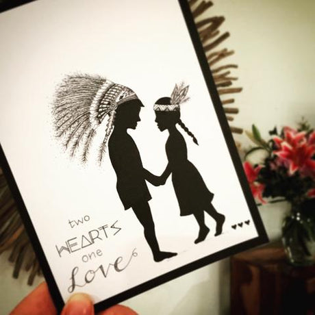 Two Hearts One Love Greeting Card