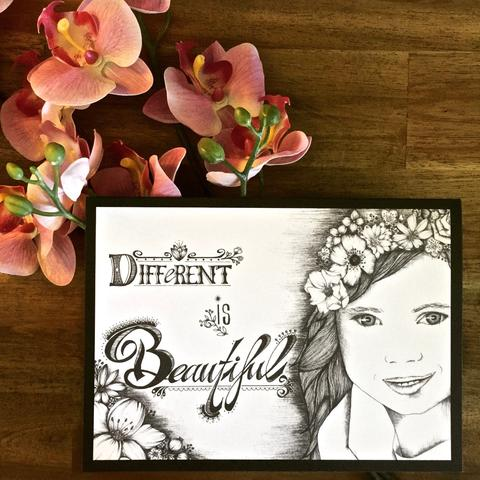 Different Is Beautiful Greeting Card