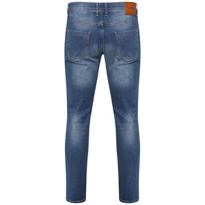 Style : Seka 103 Blue Distressed Slim Fit Jean - Junq Couture