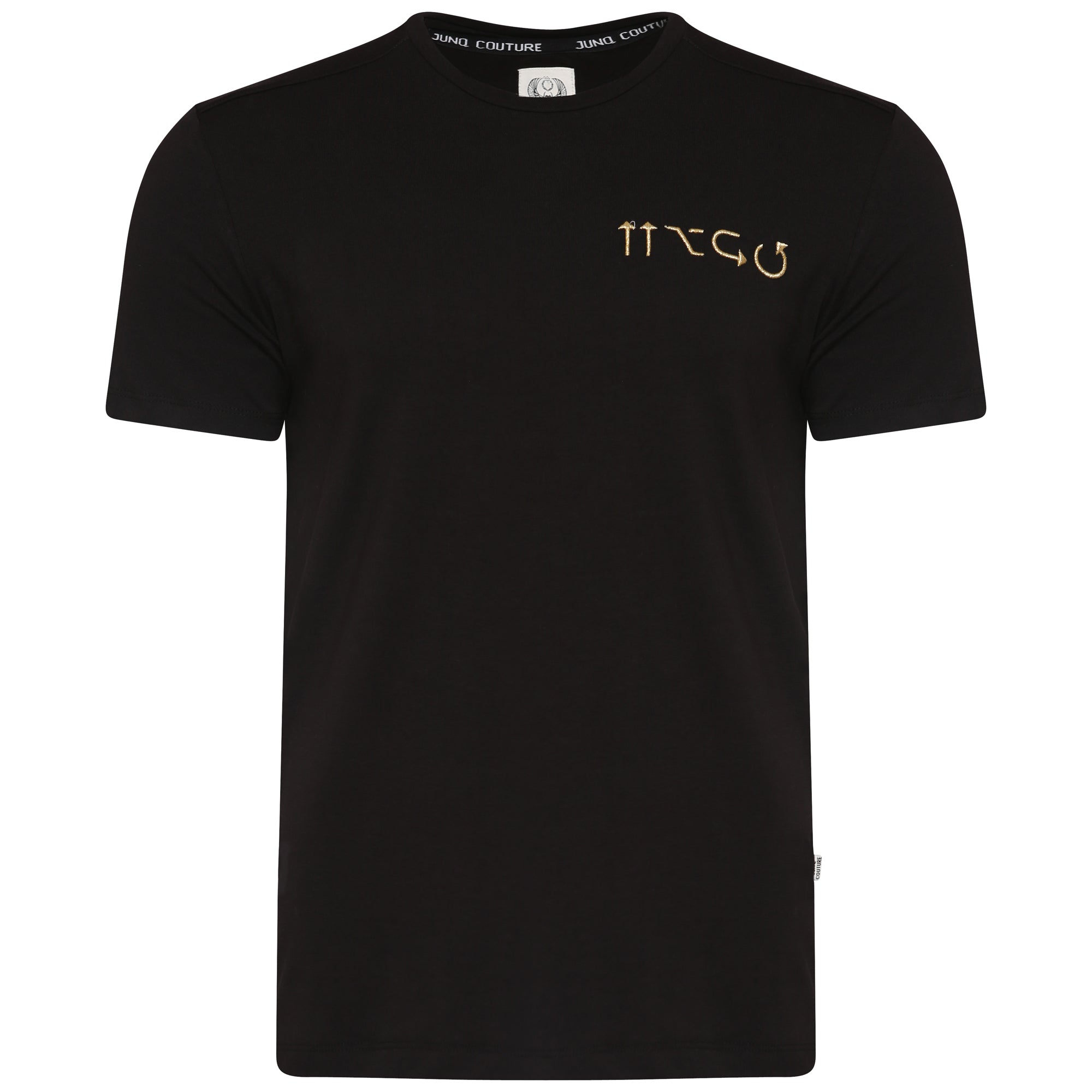 Style: Asta Luxury T-Shirt - Black - Junq Couture
