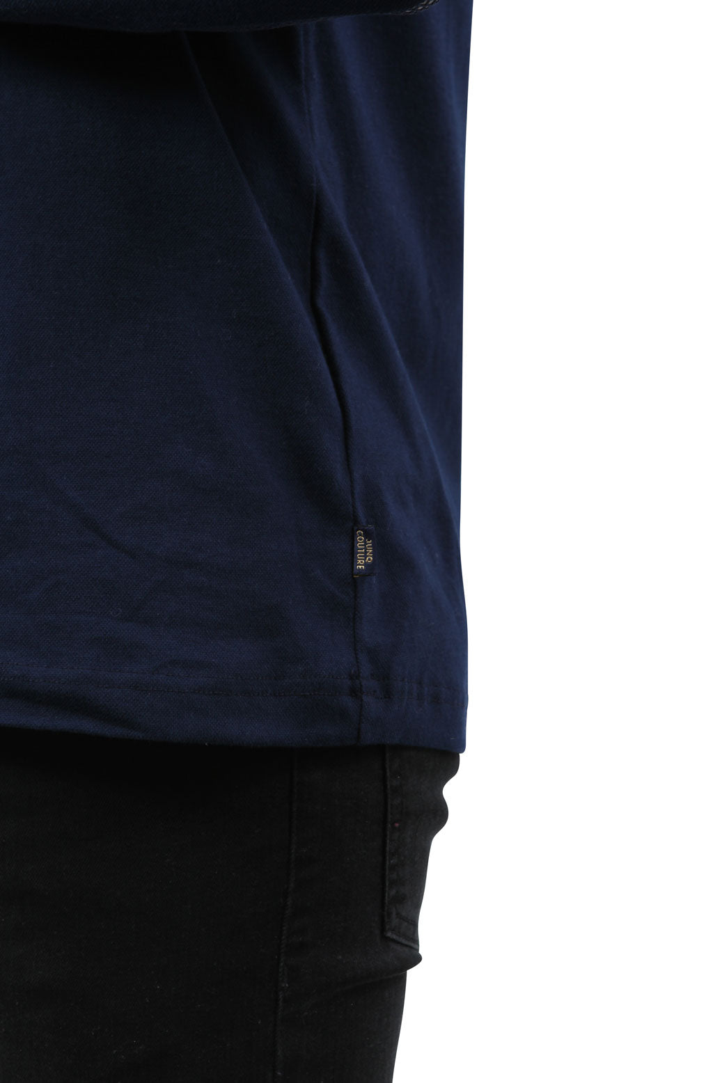 Style: Srigal Long Sleeve Polo Navy - Junq Couture