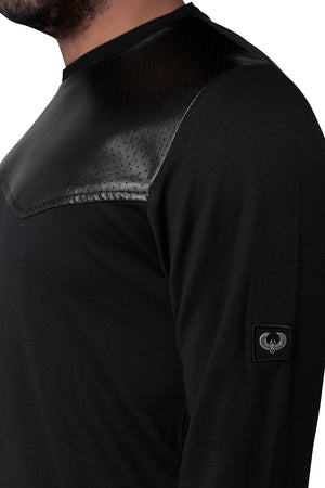 Style: Neith 500 Luxury Black Sweatshirt - Junq Couture