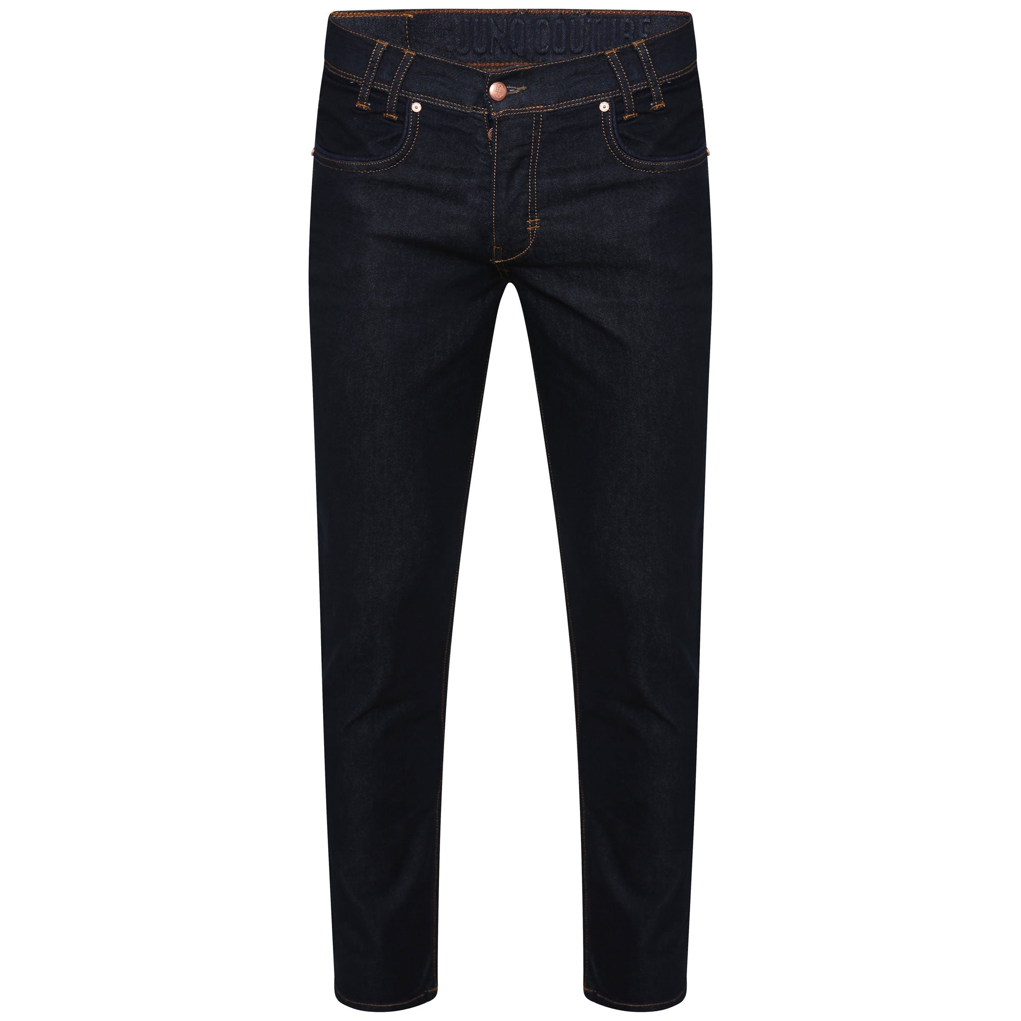 Style : Daree 102 Slim Fit Dark Blue Jeans - Junq Couture