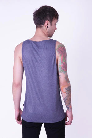 Style: Singho 001 Blue Luxury Cotton Vest - Junq Couture