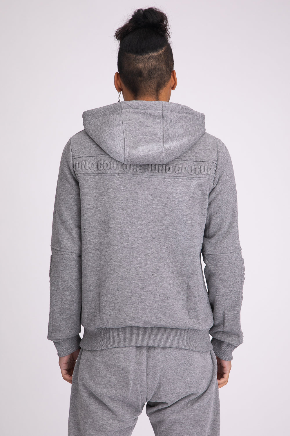 Style: Barbican 01 Grey Hoody - Junq Couture
