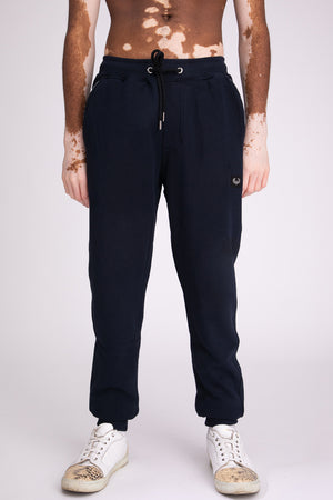 Style: Bricklane Basic Navy Jogger - Junq Couture