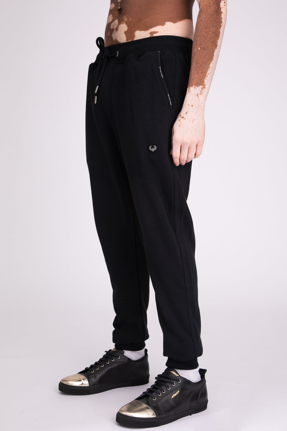 Style: Bricklane Basic Black Jogger - Junq Couture