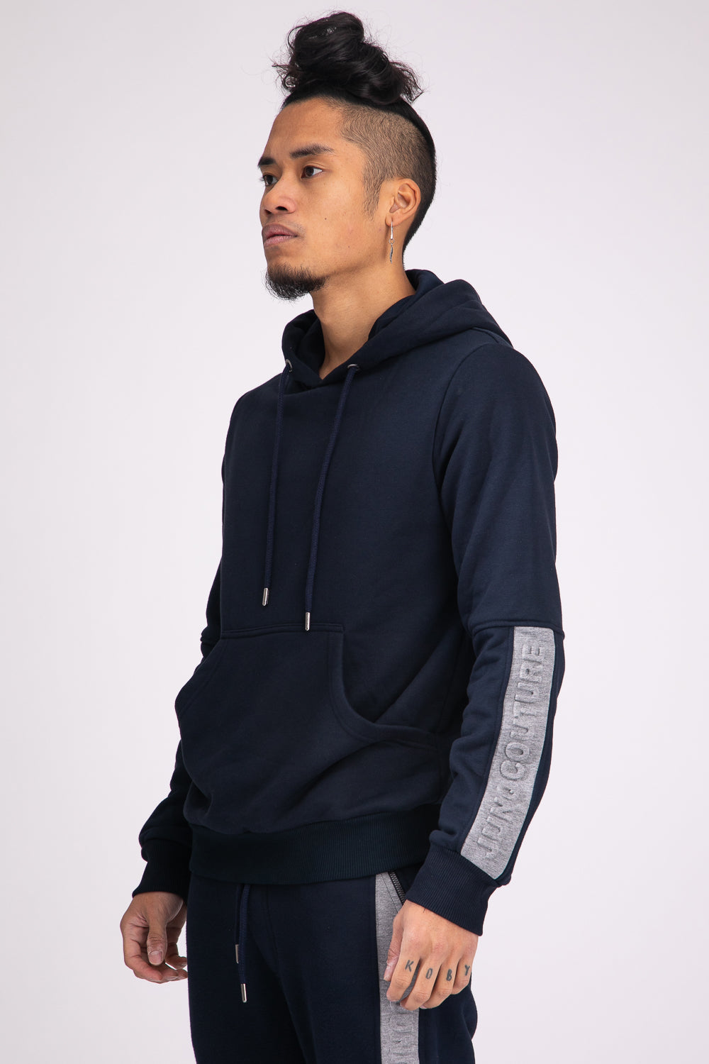 Style: Barbican 01 Navy Hoody - Junq Couture