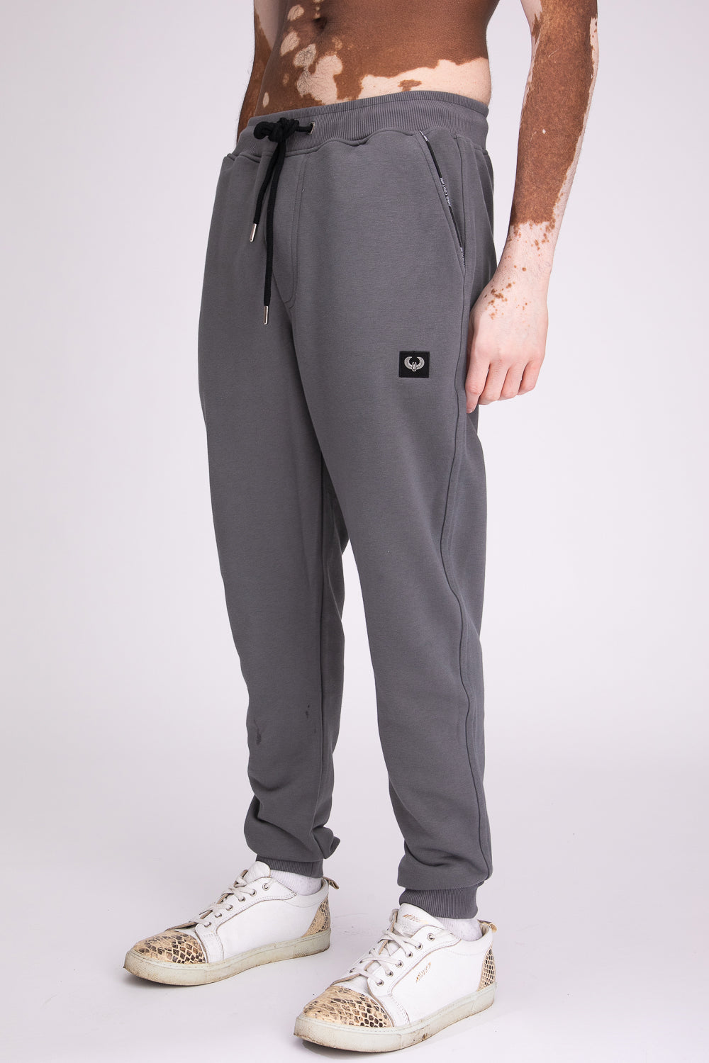 Style: Bricklane Basic Dark Grey Jogger - Junq Couture