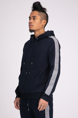 Style: Greenford 02 Navy Hoody - Junq Couture
