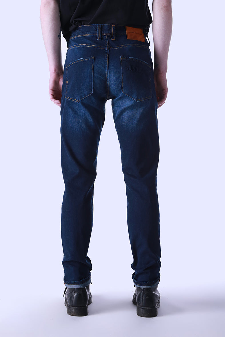 Style: Thesh 105 Blue Slim Fit Jeans - Junq Couture