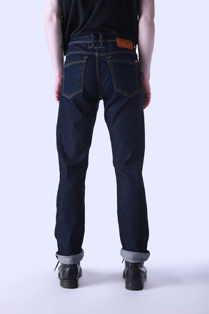 Style: Woodgreen 102 Indigo Comfort Fit Jeans - Junq Couture