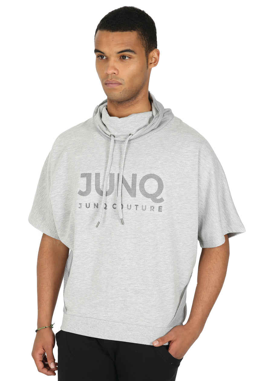 Style : Anput 105 Batwing Sleeved Sweatshirt - Grey - Junq Couture