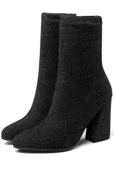 Black sock boots trends womens fashion chic casual.