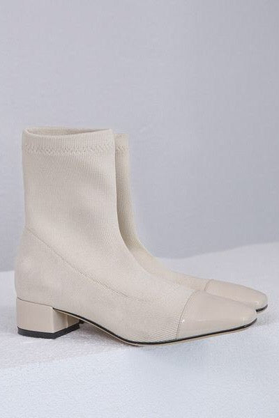 Minimal fashion womens sock boots. Spring summer street styles.
