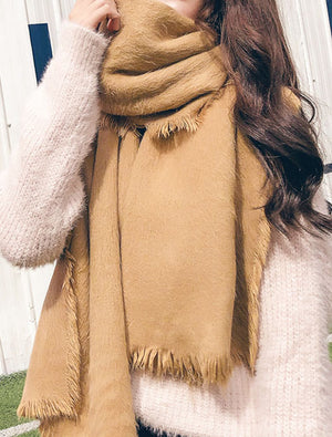 Simple Mohair Fashion Scarf For Fall Winter