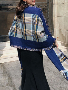 Fall Winter Plaid Long Scarves For Women