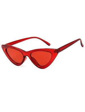 Retro 90's Cat Eye Clear Frame Sunglasses --- Four Colors