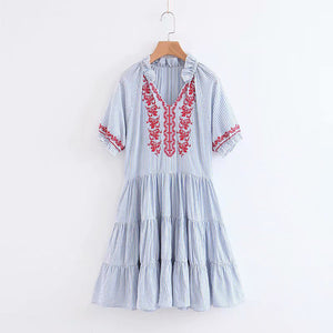 Autumn Winter Women Elegant Sweet Lace Dress