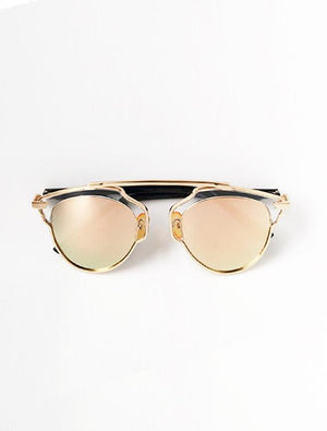 Fashion Cateye Polarized Sunglasses Gold